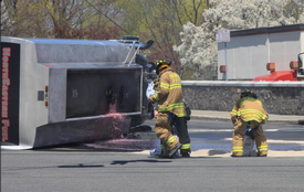 Tanker spill, College Ave. & Rt. 59.  5/1/14  Photo:  Social Media