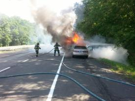 Car fire.  6/22/15.  Photo:  Todd Giraudin