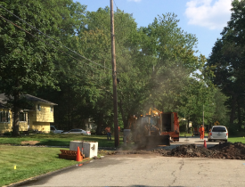 Gas Main Struck, Renee Ln.  7/13/15