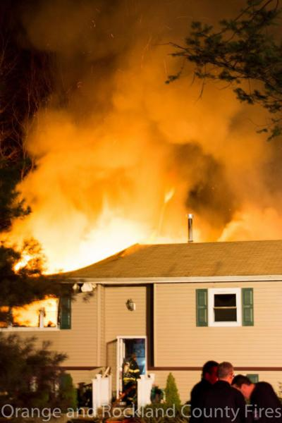 Structure Fire, 45 Mesa Place.  4/1/16.  Photo:  Orange & Rockland County Fires