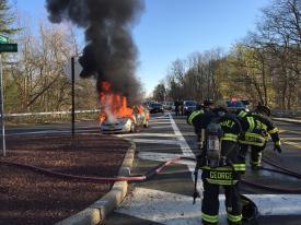 Car Fire.  4/13/16