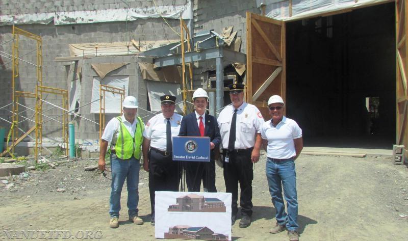 From Left:  Manny Morino (HDBG),  Commissioner Vinny Pacella, NY Senator David Carlucci, Commissioner Harold Straut, Fred Volpacchio (HDBG).